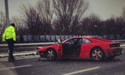 Ferrari 348 TB crashed badly on the Dutch Highway