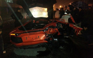 Total loss Lamborghini Aventador LP700-4 in China