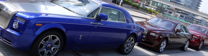 Looking good in Dubai: colourful Rolls-Royce combo!