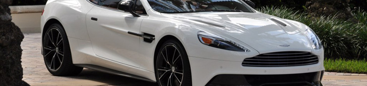 Aston Martin Vanquish looks gorgeous in Stratus White!