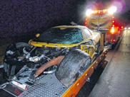 Gumpert Apollo heavily damaged after overtaking action