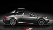 Rendering: Lexus RC F Cabriolet