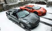 Two Italian beauties in a cold scenery