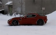 Movie: Alfa Romeo 8C playing in the snow