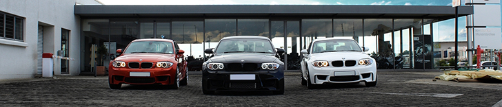 Photoshoot: three BMW 1-Serie M Coupés in Johannesburg