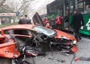 Lamborghini Aventador smashed up in China
