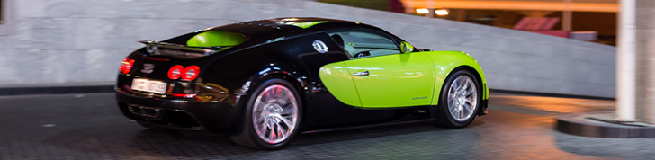 Green Veyron 16.4 Super Sport is a stranger in our midst