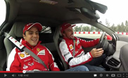 Movie: Alonso and Massa play with a Ferrari 458 Italia
