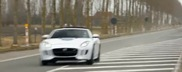 Jaguar records their new promotion video in a small Belgian town