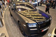 Brutal black Rolls-Royce Ghost spotted in Dubai