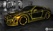 Nissan GT-R in 'tron-stijl' gespot in China