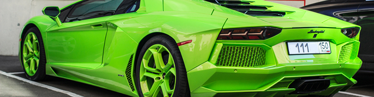 Lamborghini Aventador is extremely green!