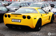 Chevrolet Corvette C6 Z06 with a funny license plate