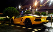 Black and yellow Lamborghini Aventador LP700-4 is it hot or not?