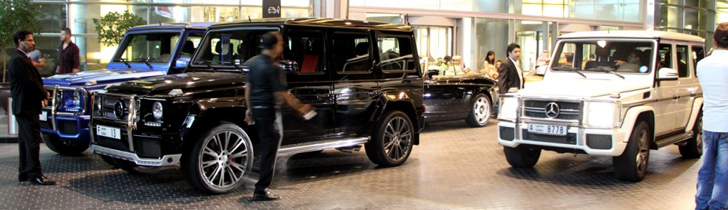 The Mercedes-Benz G-Class, an ordinary sight in Dubai