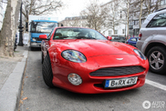 Very rare red Aston Martin DB7 Vantage spotted in Berlin