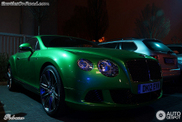 Apple Green looks great on the Bentley Continental GT Speed