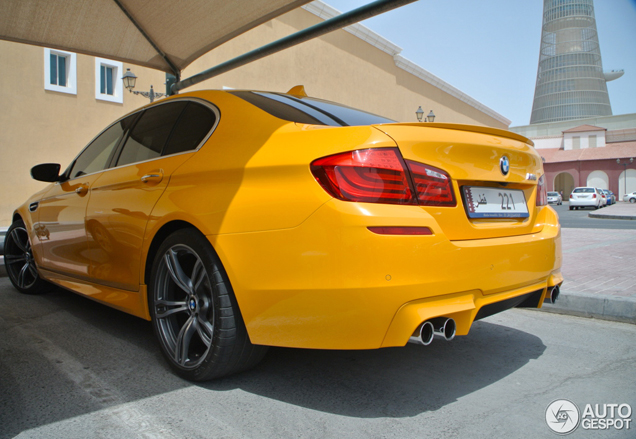 BMW M5 F10 looks trendy in Qatar