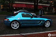 Mercedes-Benz SLS AMG Electric Drive gespot in Monaco