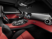 This is what the Mercedes-AMG GT looks like from the inside