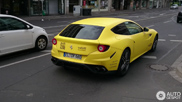Bright yellow Ferrari FF stands out in Düsseldorf