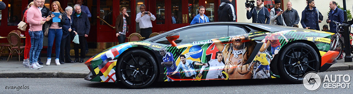 This Lamborghini Aventador LP700-4 is ready for the World Cup!