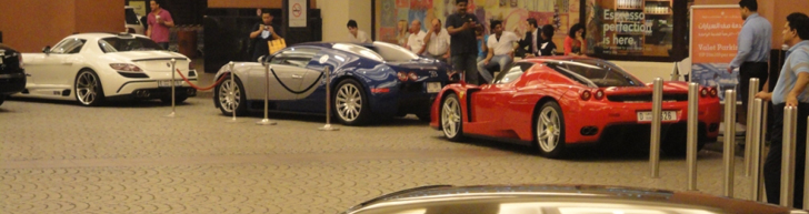 Generations of supercars next to each other: mega combo in Dubai