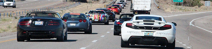Gumball 3000 2012: dagverslag tien, Santa Fe naar Las Vegas!