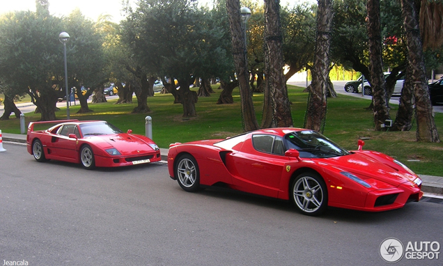 Two icons together: Ferrari Enzo Ferrari and a Ferrari F40!