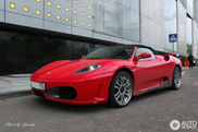 Slightly different: Ferrari F430 Spider in Moscow