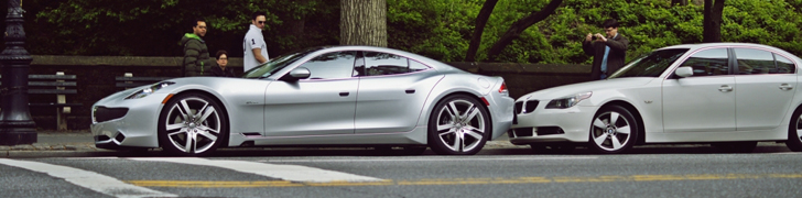 Fisker Karma fraai vastgelegd in New York City