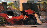 Absurd hard crash met Ferrari 599 GTO