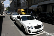 White beauties spotted together: the Bentley Continental Supersports