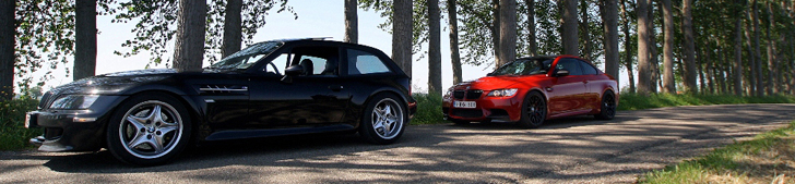 Fotoshoot: BMW Z3 M Coup &amp; BMW M3 E92 Coup