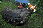 Two severely injured during a crash with a Ferrari