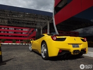Ferrari 458 Italia on a beautiful location