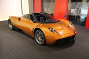 For sale: beautiful orange Pagani Huayra