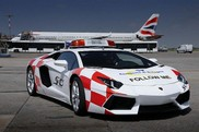 Lamborghini Aventador LP700-4 guides airplanes