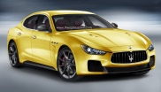 Strakke rendering van de Maserati Ghibli MC Stradale