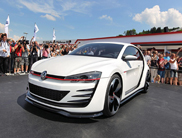 Very brutal: Volkswagen Design Vision GTI concept