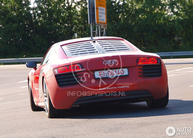Electric Audi R8 e-tron spotted at the N&uuml;rburgring