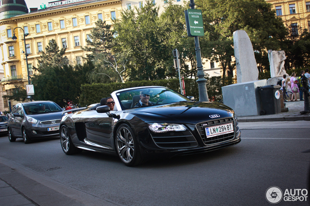 Hard to spot: the Audi R8 GT Spyder