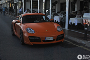 Matt orange monster:  Porsche Cayman Techart GT Widebody