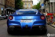 Colour Blu Mirabeau looks very good on the Ferrari F12berlinetta