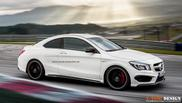 Rendering: Mercedes-Benz CLA 45 AMG Coupé