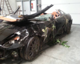This is what a crashed Ferrari 599 GTB Fiorano looks like