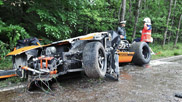 Passenger doesn't survive crash in Ford GT40