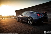 Nissan GT-R captured in a summer atmosphere