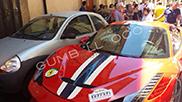 Ferrari crashes during Ferrari Cavalcade