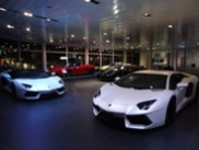 Nighttime visit to Lamborghini dealer in St. Gallen
